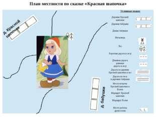 План местности по сказке «Красная шапочка» д. Красной шапочки д. бабушки Усло