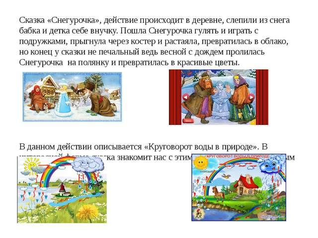Сказка «Снегурочка», действие происходит в деревне, слепили из снега бабка и...