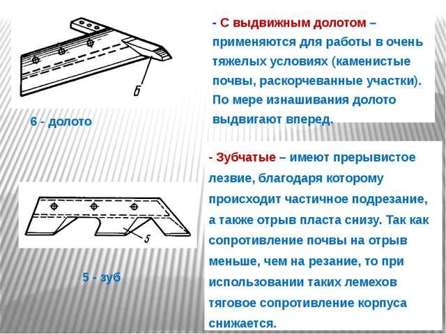 - С выдвижным долотом – применяются для работы в очень тяжелых условиях (каме...