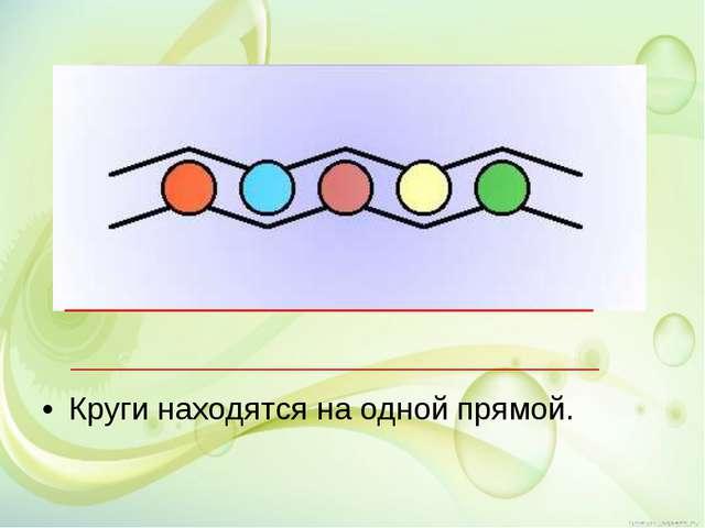 Круги находятся на одной прямой.