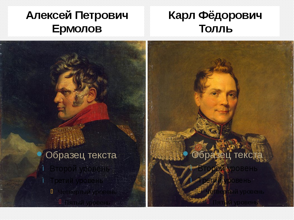 Алексей Петрович Ермолов Карл Фёдорович Толль