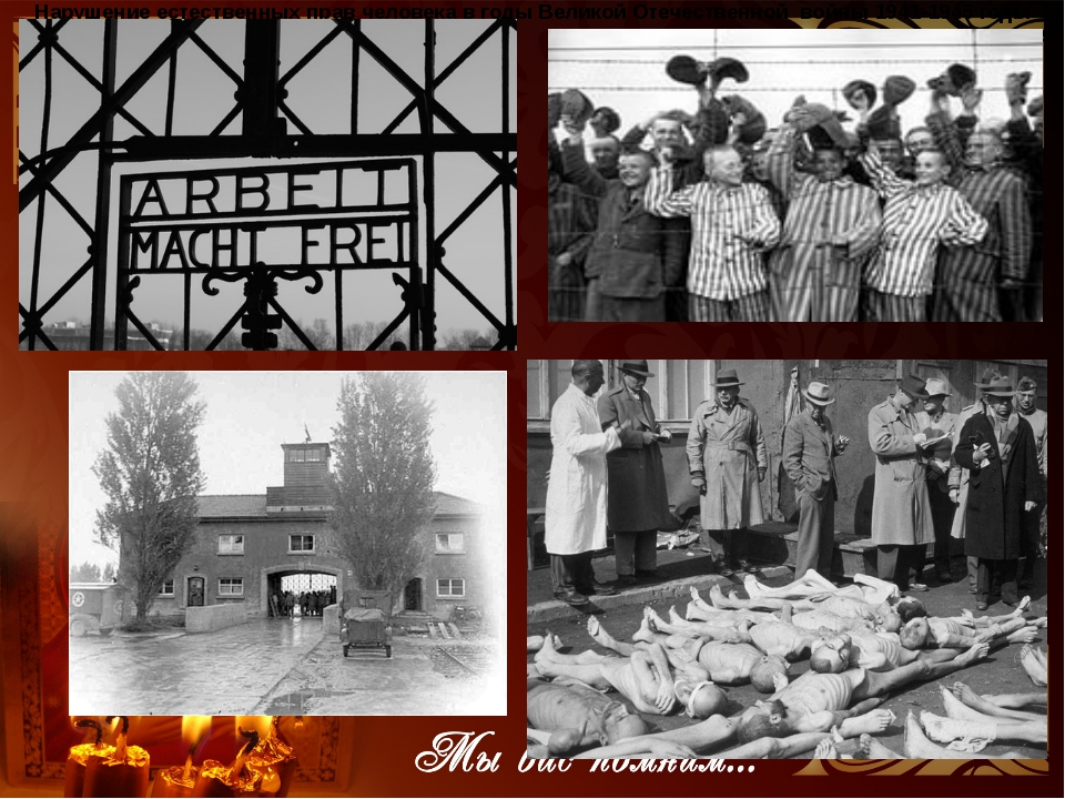 Нарушение естественных прав человека в годы Великой Отечественной войны 1941...