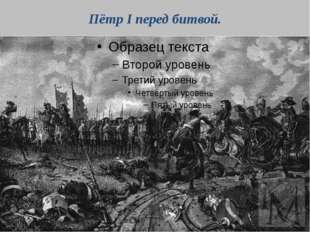 Пётр I перед битвой.