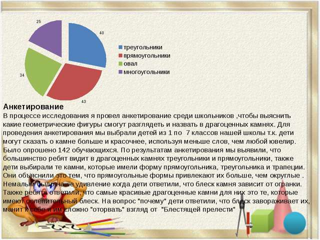 Анкетирование В процессе исследования я провел анкетирование среди школьников...