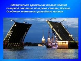 Удивительно красивы не только здания северной столицы, но и реки, каналы, мо