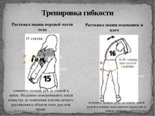 Растяжка мышц верхней части тела Тренировка гибкости Растяжка мышц подмышек и