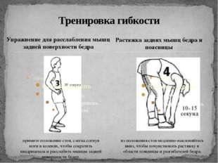 Упражнение для расслабления мышц задней поверхности бедра Тренировка гибкости