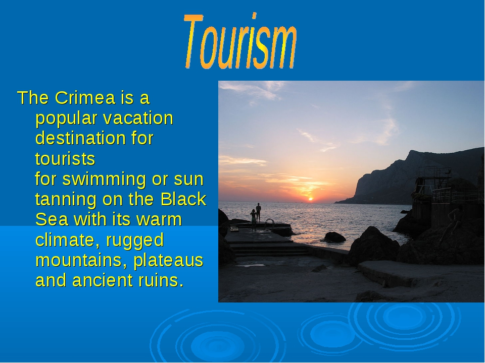 The Crimea is a popular vacation destination for tourists for swimming or sun...