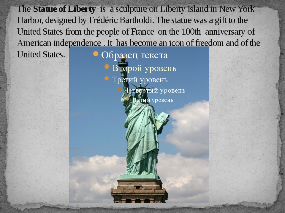 The Statue of Liberty is a sculpture on Liberty Island in New York Harbor, de...