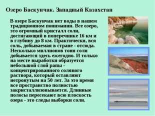 Озеро Баскунчак. Западный Казахстан В озере Баскунчак нет воды в нашем традиц