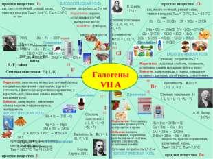 Галогены VII A Муассан,1886г. 19 F 9 В (F) = I Степени окисления: F (-1, 0) К