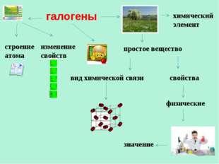 галогены строение атома изменение свойств свойства физические значение химиче