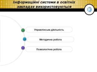 Company Logo Інформаційні системи в освітніх закладах використовуються Психол