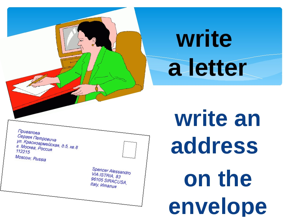 write a letter write an address on the envelope