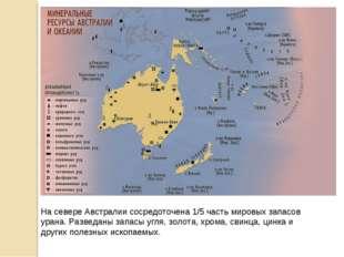 На севере Австралии сосредоточена 1/5 часть мировых запасов урана. Разведаны