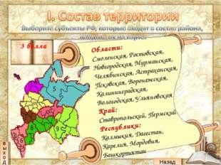 Области: Смоленская, Ростовская, Новгородская, Мурманская, Челябинская, Астра