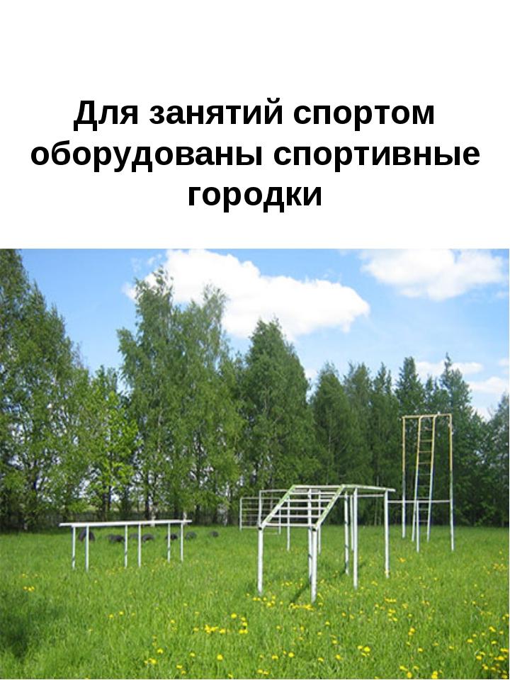 Для занятий спортом оборудованы спортивные городки
