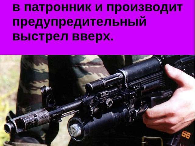 Если же нарушитель не выполняет требования, часовой досылает патрон в патрон...