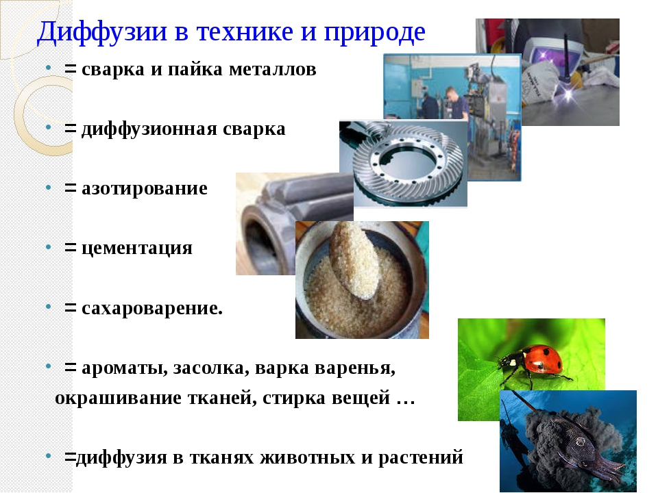 Диффузии в технике и природе = сварка и пайка металлов = диффузионная сварка...