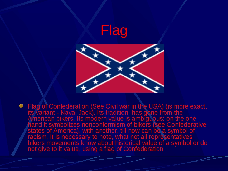 Flag Flag of Confederation (See Civil war in the USA) (is more exact, its var...