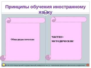 Общедидактические частно-методические Принципы обучения иностранному языку 01