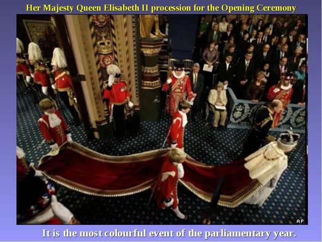 Her Majesty Queen Elisabeth II procession for the Opening Ceremony It is the...
