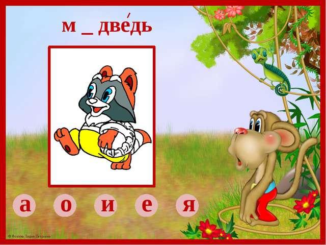 а о и е я м _ дведь © Фокина Лидия Петровна
