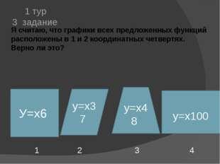 Я считаю, что графики всех предложенных функций расположены в 1 и 2 координат