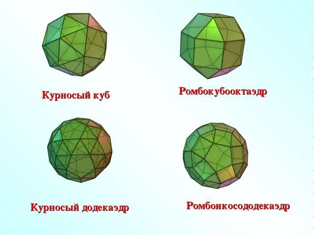 Курносый куб Курносый додекаэдр