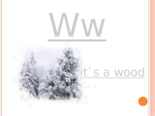Ww it`s a wood