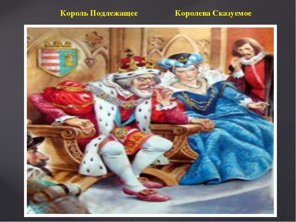 Король Подлежащее Королева Сказуемое