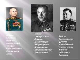 Войска Центрального фронта, командующий— генерал армии Константин Константин