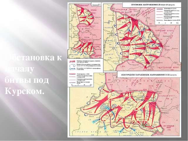 Обстановка к началу битвы под Курском.