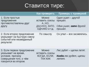Ставится тире: Как проверить Примеры с проверкой 1. Если простые предложения