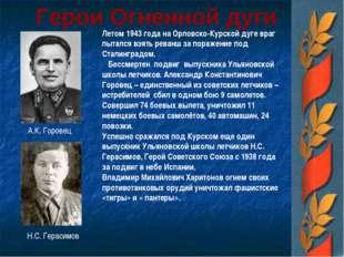 Герои Огненной дуги Летом 1943 года на Орловско-Курской дуге враг пытался взя
