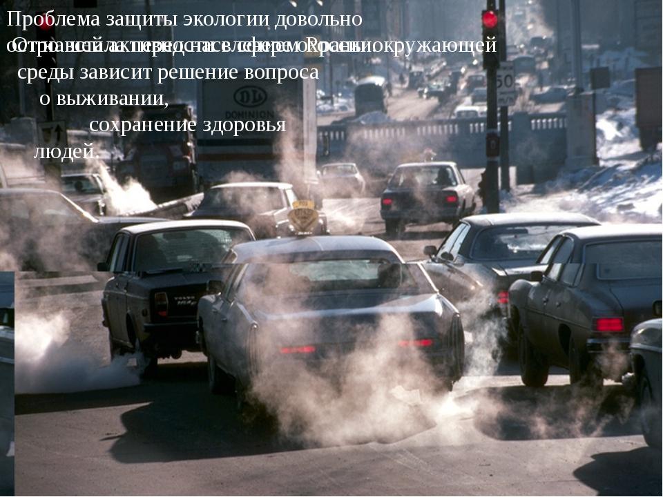 Проблема защиты экологии довольно остро встала перед населением России. От на...