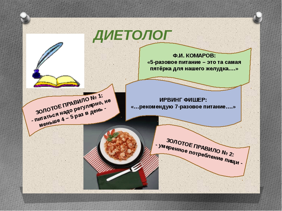 Ф.И. КОМАРОВ: «5-разовое питание – это та самая пятёрка для нашего желудка….»...