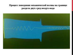 Процесс поведения механической волны на границе раздела двух сред воздух-вода