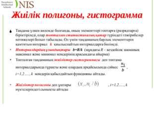 Жиілік полигоны, гистограмма