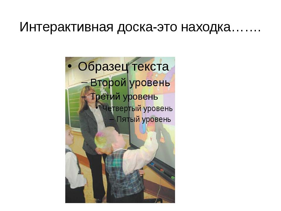 Интерактивная доска-это находка…….