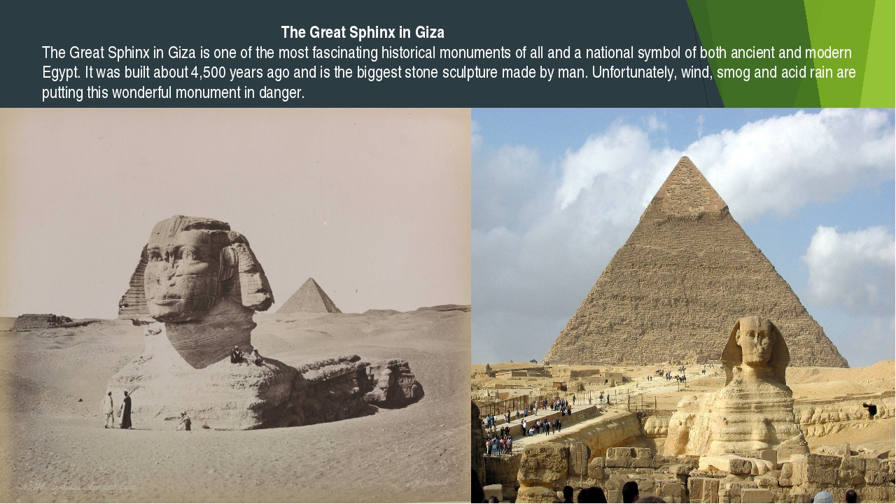 The Great Sphinx in Giza The Great Sphinx in Giza is one of the most fascina...