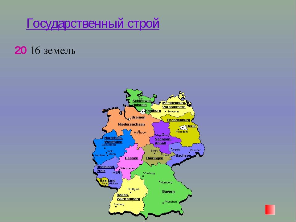 Государственный строй 20 16 земель