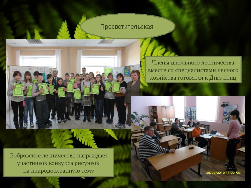 Просветительская Бобровское лесничество награждает участников конкурса рисун...