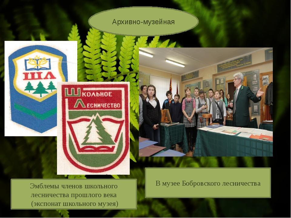 Архивно-музейная Эмблемы членов школьного лесничества прошлого века (экспона...