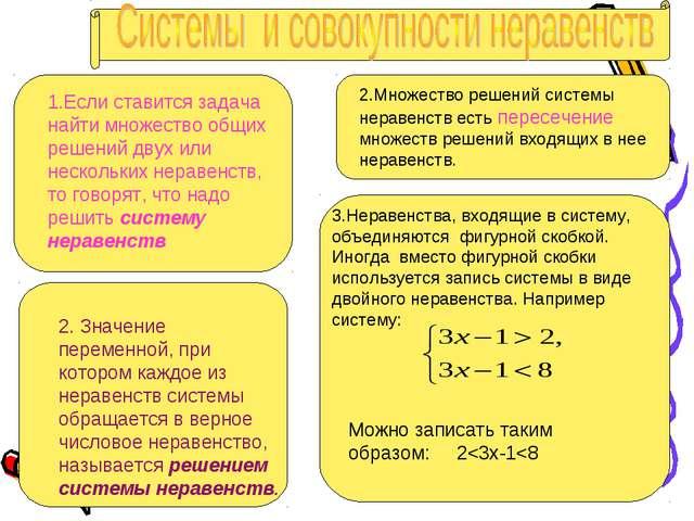 1.Если ставится задача найти множество общих решений двух или нескольких нера...