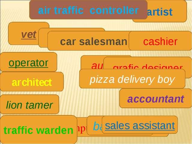 vet waiter author architect computer programmer artist grafic designer bank t...