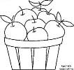 Картинки по запросу корзина с яблоками рисунок