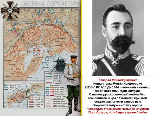 Генерал Р.И.Кондратенко Кондратенко Роман Исидорович (12 ОК 1857-15 ДК 1904)...