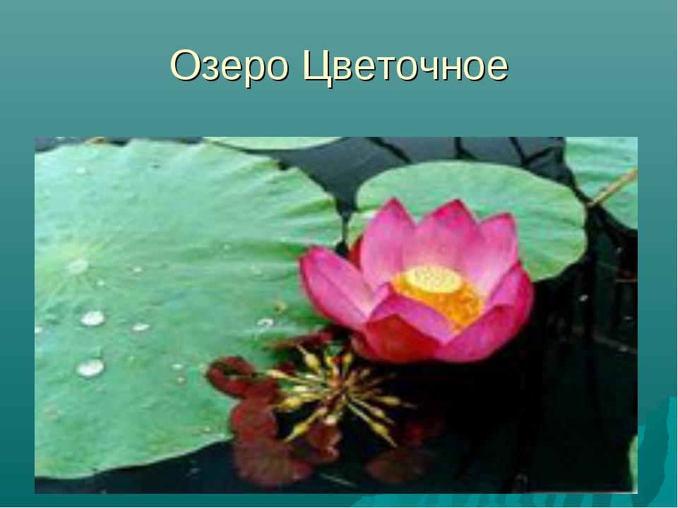 Озеро Цветочное