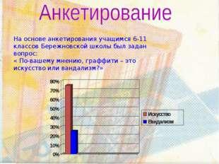 На основе анкетирования учащимся 6-11 классов Бережновской школы был задан во